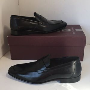 Bruno Magli Calabria Black Leather Men's Shoes 9 D